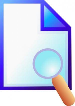Search Document clip art