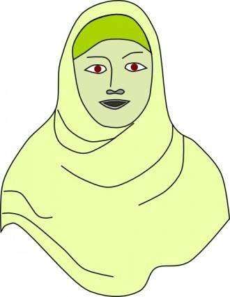 Islamic Hijab Vail Headscarf clip art