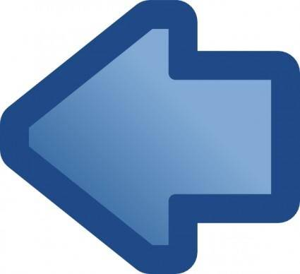 Icon Arrow Left Blue clip art