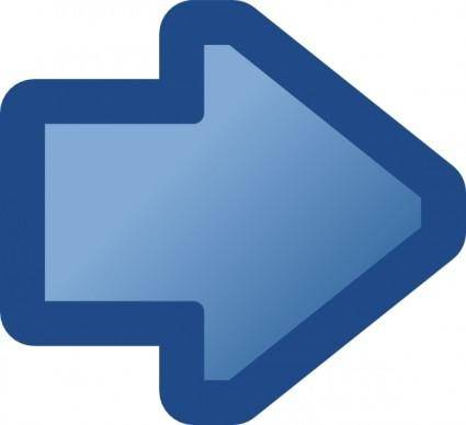 Icon Arrow Right Blue clip art