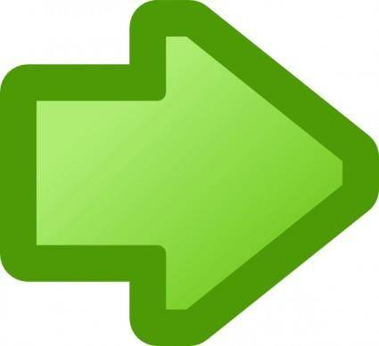 Icon Arrow Right Green clip art