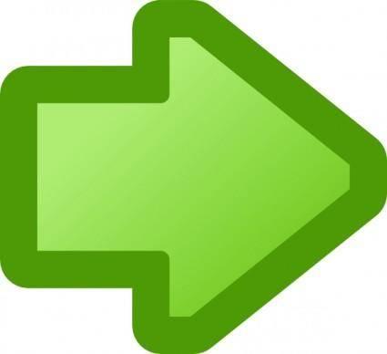 free vector Icon Arrow Right Green clip art