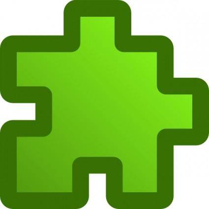 free vector Icon Puzzle Green clip art