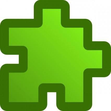Icon Puzzle Green clip art