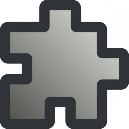 Icon Puzzle Grey clip art
