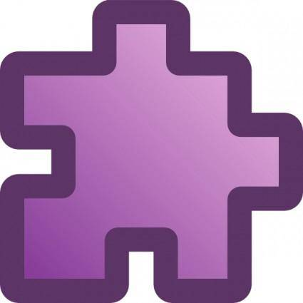 free vector Icon Puzzle Purple clip art