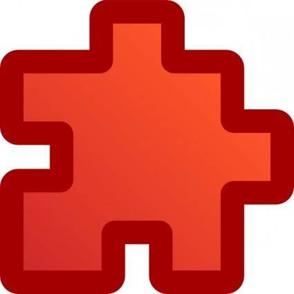 Icon Puzzle Red clip art