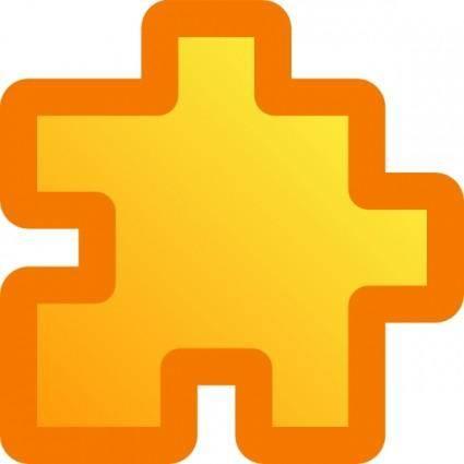 Icon Puzzle Yellow clip art