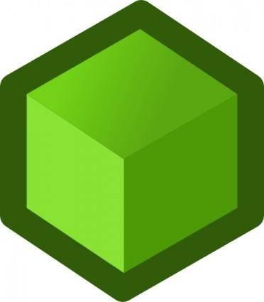 Icon Cube Green clip art