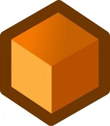 free vector Icon Cube Orange clip art