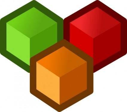 Icon Cubes clip art