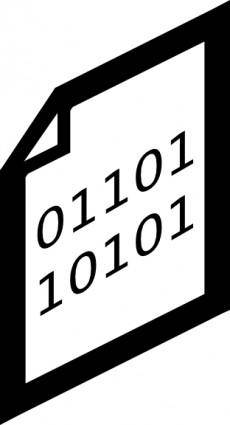Binary File Icon clip art