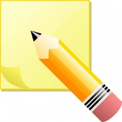 Jeremybennett Sticky Note Pad And Pencil clip art