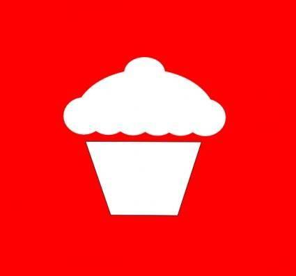 Cupcake Icon clip art