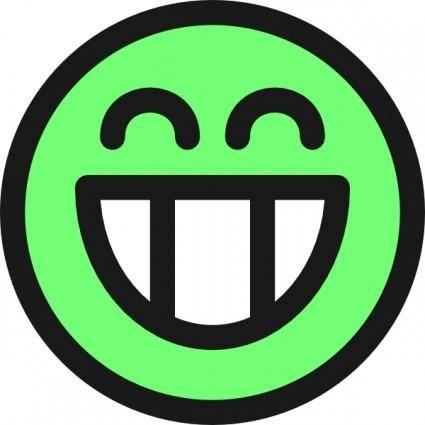 free vector Flat Grin Smiley Emotion Icon Emoticon clip art