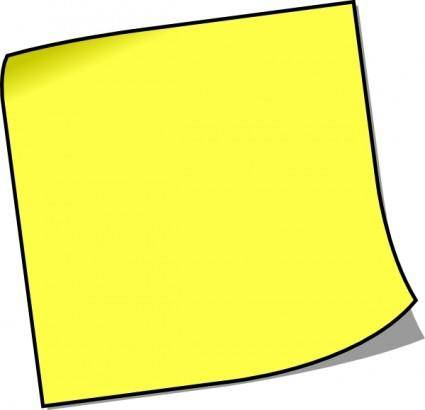 Blank Sticky Note clip art
