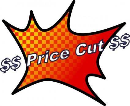 free vector Price Cut clip art