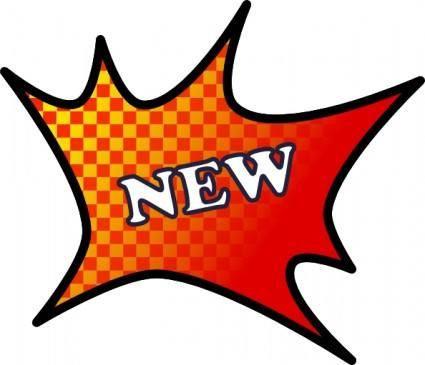 New Item Splash clip art