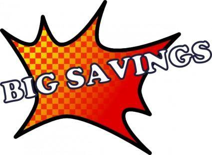 free vector Big Savings clip art