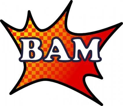free vector Bam Splash clip art