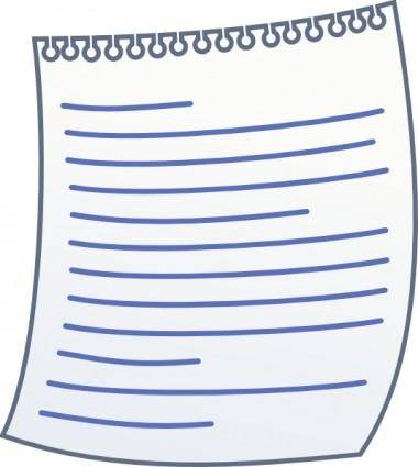 Paper With Writing clip art