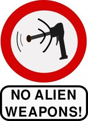 free vector No Alien Weapons clip art