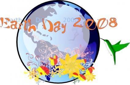 free vector Earth Day 2008 clip art
