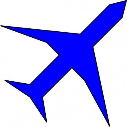 Boing Blue Freight Plane Icon clip art