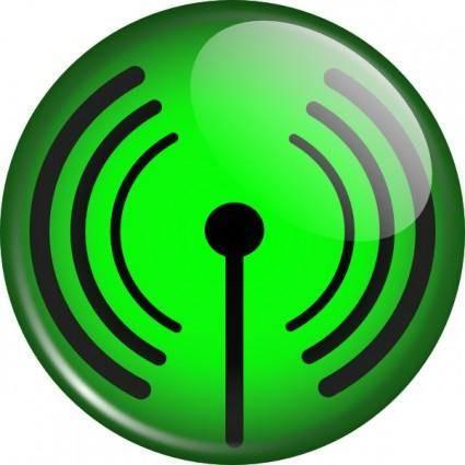 Glassy Wifi Symbol clip art