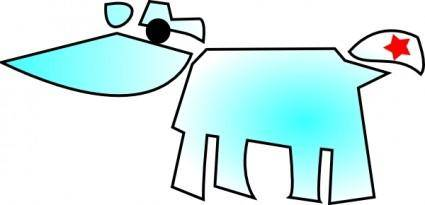 free vector Cow And Star clip art
