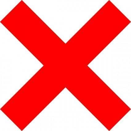 X Icon clip art