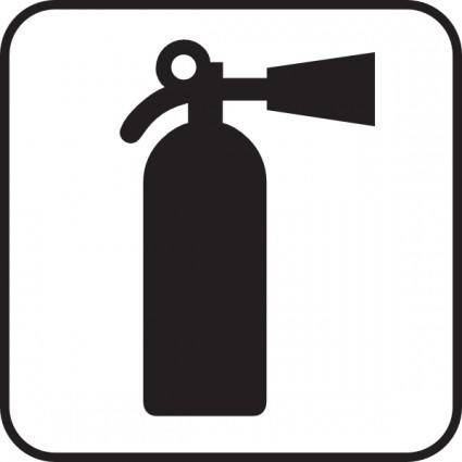 Fire Extinguisher White clip art