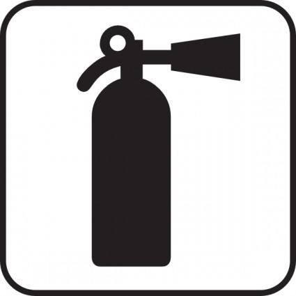 Fire Extinguisher White clip art