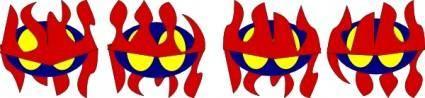 Robot Icon Octopus  clip art