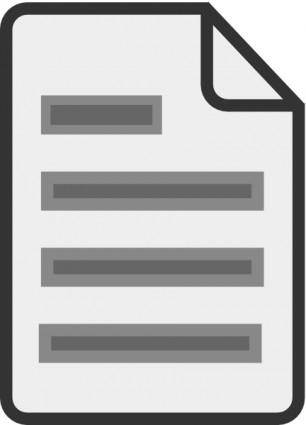 Document Icon clip art