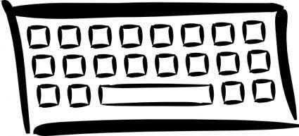 Minimalist Keyboard clip art