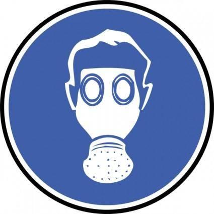 free vector Wear Gas Mask clip art