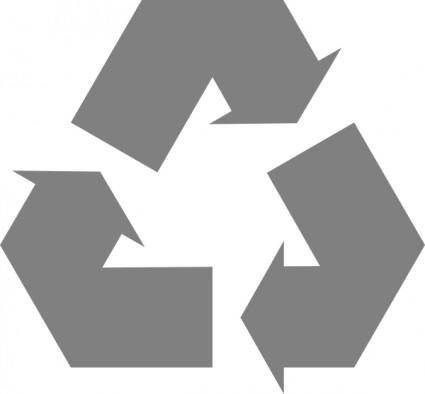 Simple Recycle Icon Arrows clip art