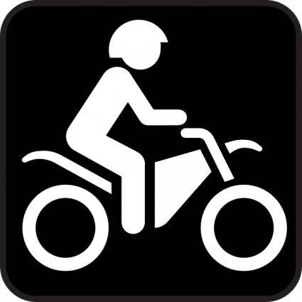 Map Symbol Motorbike clip art