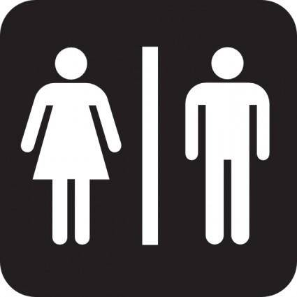 Men Women Bathroom clip art