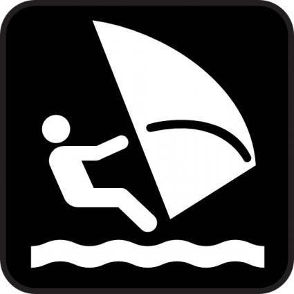 Wind Surfing clip art