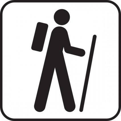 free vector Hiking clip art