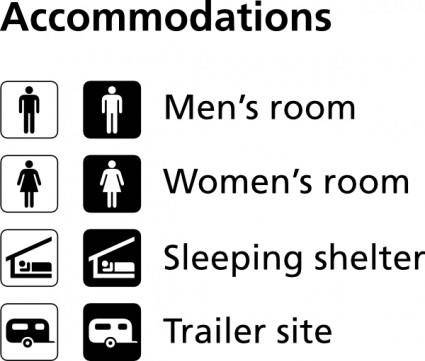 Accomodations Icons clip art