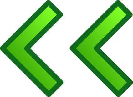 Green Left Double Arrows Set clip art