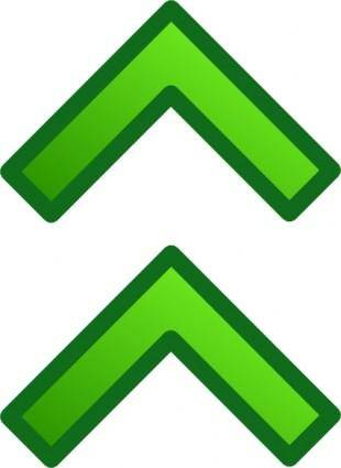 Green Up Double Arrows Set clip art