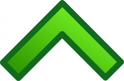 free vector Green Single Up Arrow Set clip art