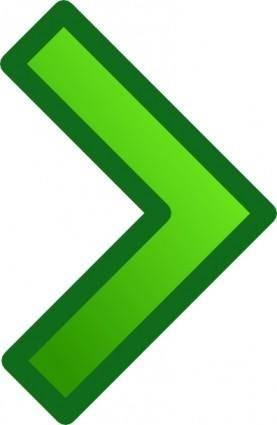 free vector Green Single Right Arrow Set clip art