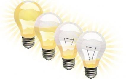 free vector Vector Light Bulbs