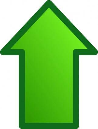 Green Arrows Set Up clip art