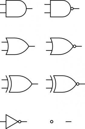 free vector Digital Logic Gates clip art